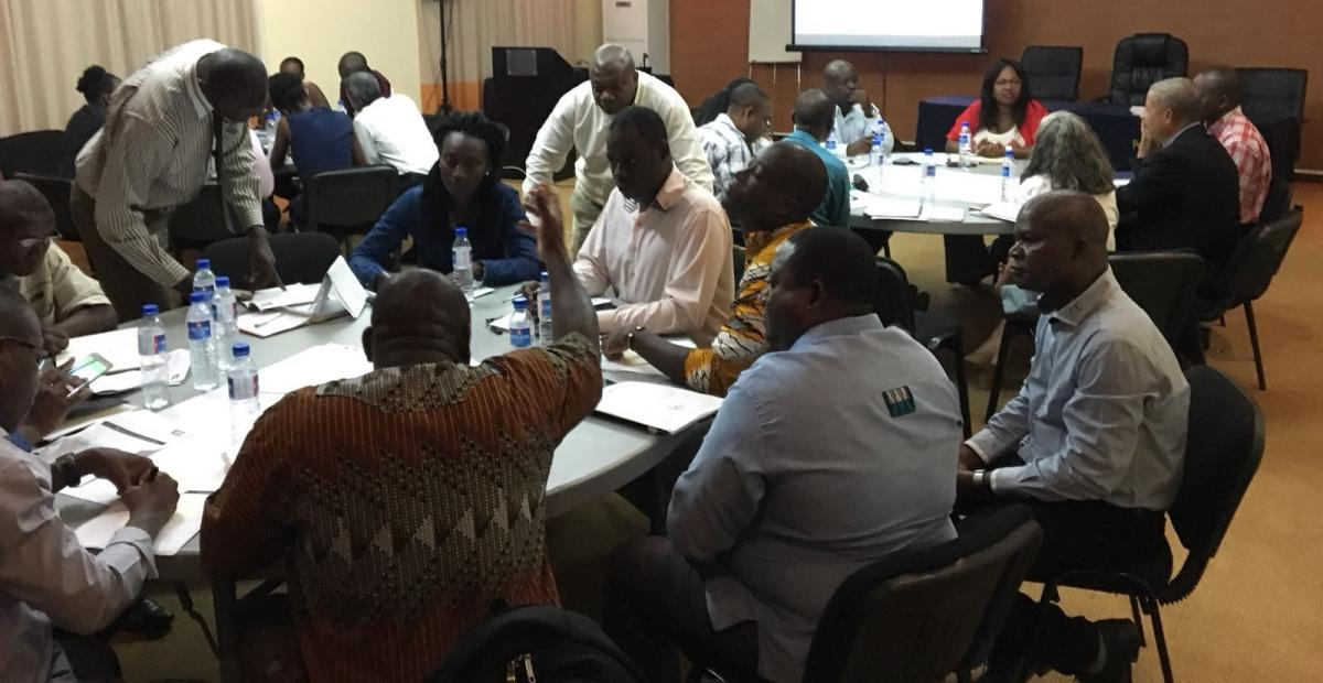 Participants engaged in discussion during the Partnership Plan Workshop.