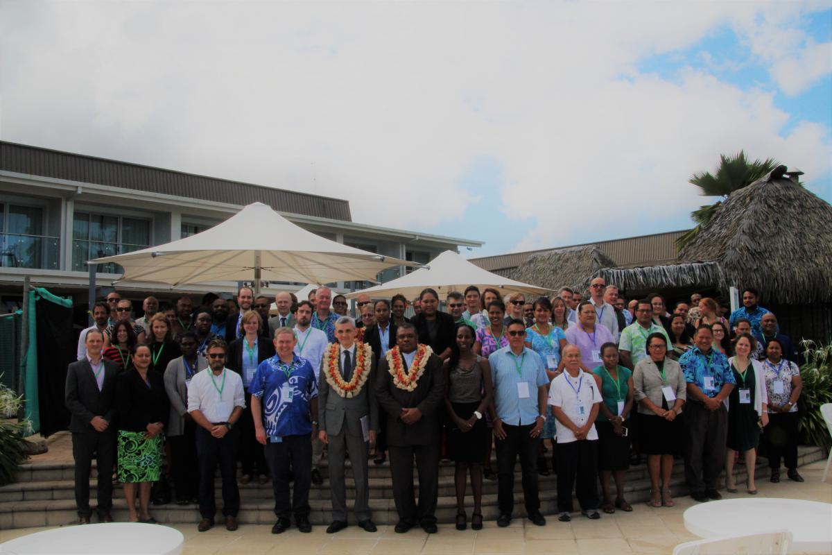 Participants at the recent Pacific Regional Dialogue on Nationally Determined Contributions.